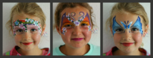 Collage facepaint flowers